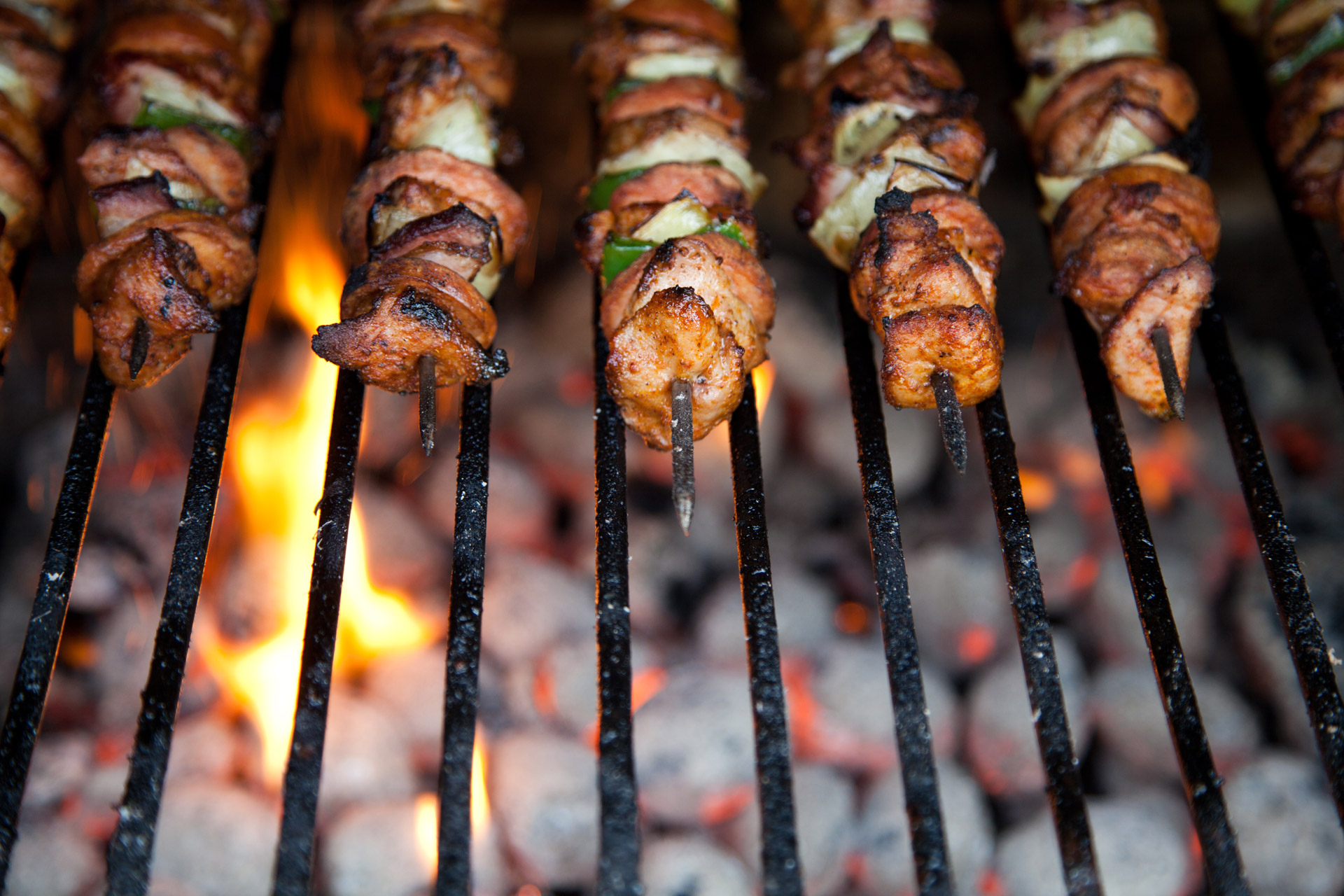 kebab-on-skewers